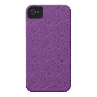 Prägeartiges Rosen-Lavendel lila iPhone 4/4s Case-Mate iPhone 4 Hüllen