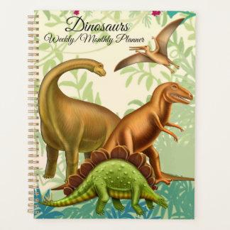 Prähistorische Dinosaurier-wöchentlicher Planer