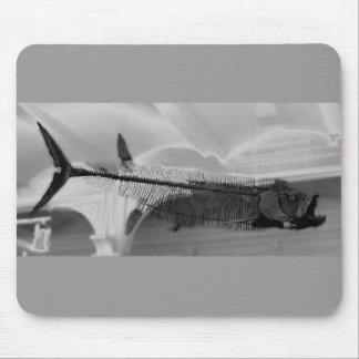 Prähistorische Fische B+W Mauspads