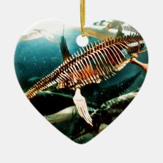 Prähistorisches Unterwasserseegeschöpf - Loch Ness Keramik Ornament