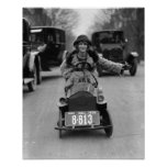 Prallplatte, die Pedal Car, 1924 fährt Plakate