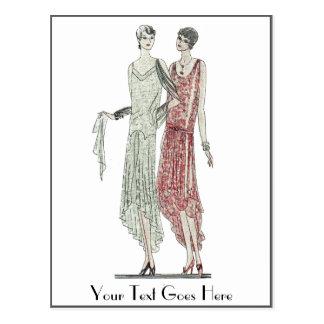 Prallplatten-Mode 1928 Postkarte