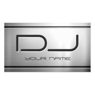 Prämie gebürstetes Edelstahl-Metall - Musik DJ Visitenkarten