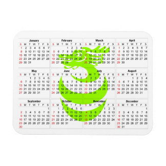 Prämien-Magnet Drache des Kalenders hellgrüner Flexibler Magnet