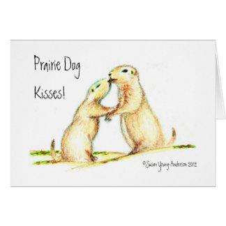 Präriehund-Küsse! Gruß-Karte Karte
