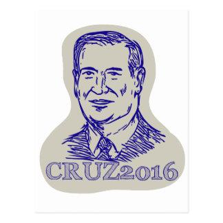 Präsident 2016 Ted-Cruz Drawing Postkarte