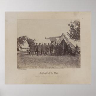 Präsident Abe Lincoln auf Schlachtfeld von Poster