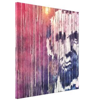 Präsident Abraham Lincoln abstrakt Leinwanddruck