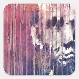 Präsident Abraham Lincoln abstrakt Quadratischer Aufkleber