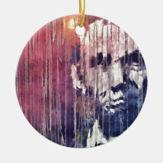 Präsident Abraham Lincoln abstrakt Rundes Keramik Ornament