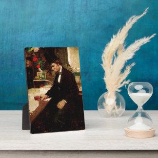 Präsident Abraham Lincoln mit Rose und Hut Fotoplatte