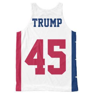 Präsident amerikanische Flagge Donald- Trump45. Komplett Bedrucktes Tanktop