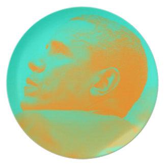 Präsident Barack Obama 4aa Melaminteller