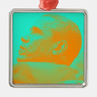 Präsident Barack Obama 4aa Silbernes Ornament