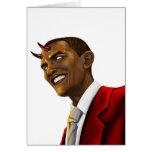 Präsident Barack Obama als der Teufel Halloween Mitteilungskarte