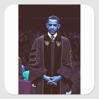 Präsident Barack Obama an Notre Dame-Universität Quadratischer Aufkleber