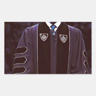 Präsident Barack Obama an Notre Dame-Universität Rechteckiger Aufkleber