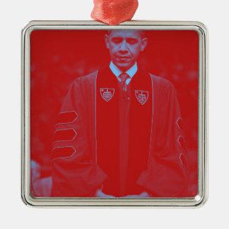 Präsident Barack Obama an Notre Dame-Universität Silbernes Ornament