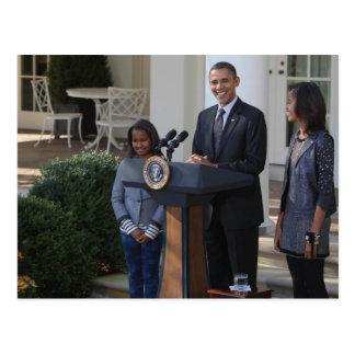 Präsident Barack Obama begnadigt Postkarte