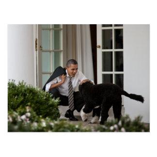 Präsident Barack Obama mit BO