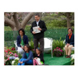 Präsident Barack Obama u. Familie Postkarten