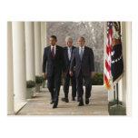 Präsident Barack Obama und ehemalige Präsidenten Postkarte