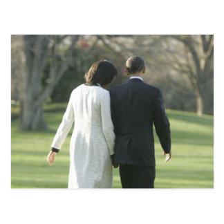 Präsident Barack Obama und First Lady Michelle Postkarten