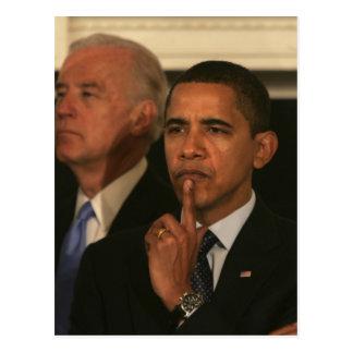 Präsident Barack Obama und Vizepräsident Postkarten