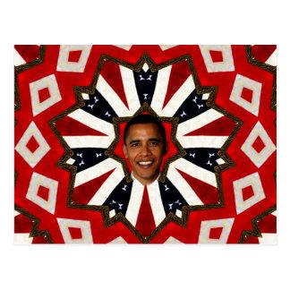 Präsident Barack Obama, USA_ Postkarte