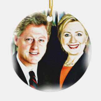 Präsident Bill Clinton u. Präsident Hillary Keramik Ornament