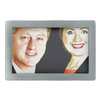 Präsident Bill Clinton u. Präsident Hillary Rechteckige Gürtelschnallen