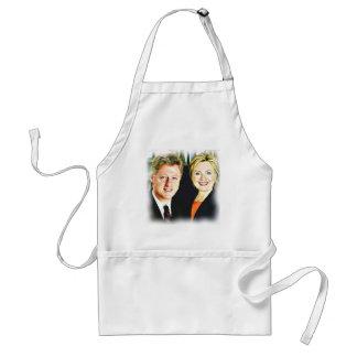 Präsident Bill Clinton u. Präsident Hillary Schürze