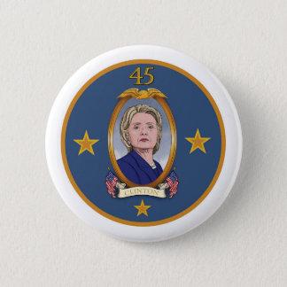 Präsident Clinton Runder Button 5,7 Cm