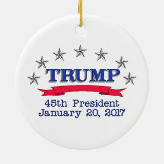 Präsident des Trumpf-45. Keramik Ornament