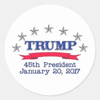 Präsident des Trumpf-45. Runder Aufkleber