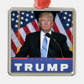 Präsident Donald Trump Silbernes Ornament