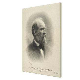 PRÄSIDENT GENERAL JAMES A. GARFIELD Porträt Leinwanddruck