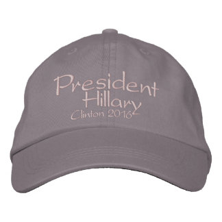 Präsident Hillary Clinton 2016 Bestickte Baseballcaps