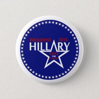 Präsident Hillary Clinton Runder Button 5,7 Cm