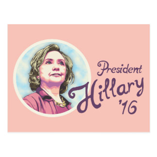 Präsident Hillary Postkarte