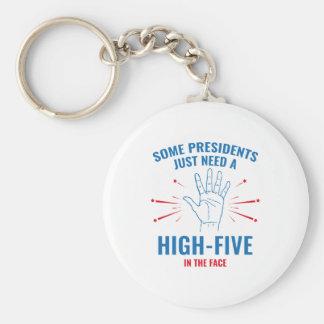 Präsident Hoch-Fünf Face Schlüsselanhänger