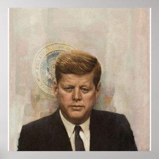 Präsident John Fitzgerald Kennedy Poster