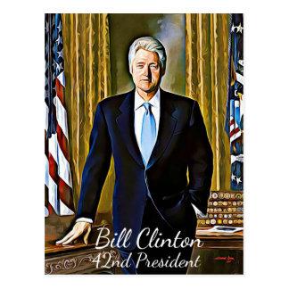 Präsident Keepsake Postcard Bill Clinton-42. Postkarte