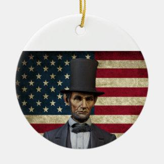 Präsident Lincoln Keramik Ornament