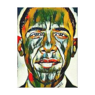 Präsident Obama Oil Portrait Leinwanddruck