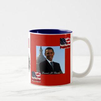Präsident Obama Patriotic Celebration Zweifarbige Tasse