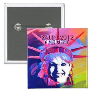 Präsident Palin Pin Quadratischer Button 5,1 Cm
