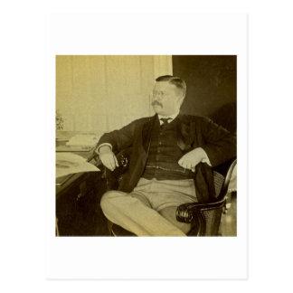 Präsident Roosevelt an seinem Schreibtisch im Postkarte