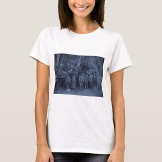 Präsident Roosevelt und John Muir (cyan-blau) T-Shirt