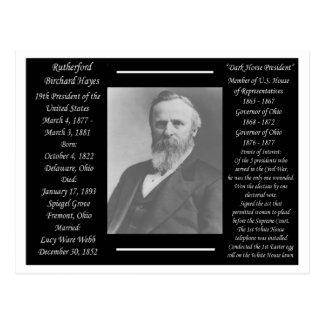 Präsident Rutherford B Hayes Postkarte